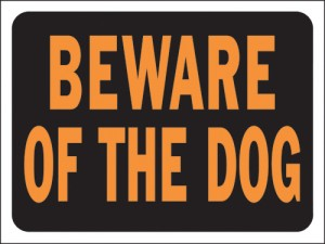 locksmith london beware of the dog sign