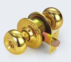 london golden knob lock